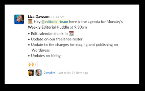 Sales Meeting Topic Collect Agenda Items For A Meeting Slack Tips Slack