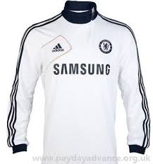 polyester uk Sale Chelsea thumbhole At Men's White Football Abbeyheyfc Inserts 13 elasticated Mesh 2012 Top Training Adidas Collar 10uw592 Tops Clearance For rib Clothing co