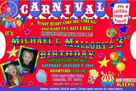 Carnival Birthday Party Invitations Websolutionvilla Com