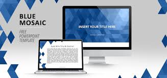 Blue Power Point Templates Blue Mosaic Powerpoint Template