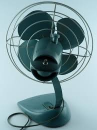 general electric 14 metal desk fan vintage steampunk art deco