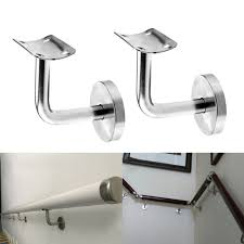 handrail wall brackets. Simple Handrail 2X Stainless Steel Handrails Stair Wall Brackets Hand Rail Bannister Support Throughout Handrail 0