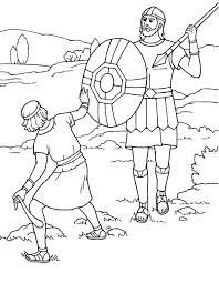 David And Goliath Coloring Page And Coloring Pages With Story Best