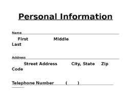 Personal Information Sheets Personal Information Sheet By Morans Printables Tpt
