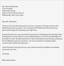 Interview Follow Up Thank You Letter Email After Present For