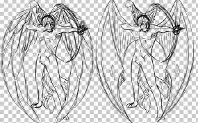 Angel Sketch Line Art Drawing Demon Angel Sketch Png Clipart Angel