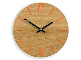 large modern wall clocks canada extra uk wood clock orange black kids room amusing lar