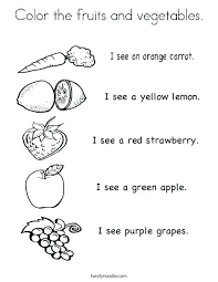 Fruit Coloring Pages Vegetable Coloring Pages I See Fruit Coloring