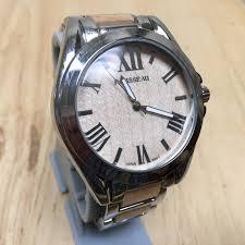 rousseau watch 6 listings nice vintage rousseau men wood steel r analog quartz watch hours~new battery 18 55