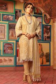 3 Piece Embroidered Suit With Chiffon Dupatta Alkaram Studio