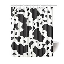 Memory Home Cow Cattle Print Black And White Pattern Waterproof