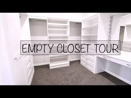 DREAM EMPTY CLOSET TOUR YouTube