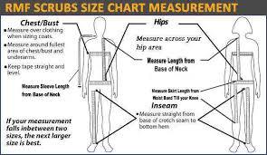 Scrubs Size Chart Size Chart