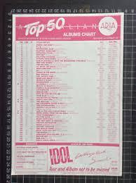 Details About Aria Top 40 Pop Music Chart 13 9 87 Australian Record Shop Flier Kylie Minogue