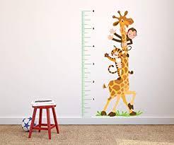 Amazon Com Growth Chart Giraffe Wall Decal Giraffe Growth