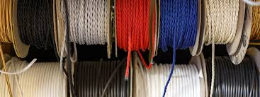 variety of coloured cables for electrical wiring