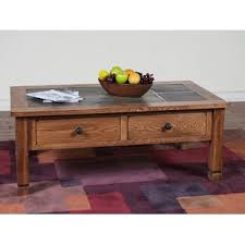 Slate top coffee table Cherry Fresno Coffee Table With Slate Top Wayfair Coffee Table With Slate Top Wayfair