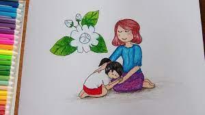 วาดรูป วันแม่ ง่ายๆ | วันแม่แห่งชาติ | How To Draw Mothers Day - YouTube