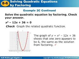 solve the quadratic equation by factoring check your answer
