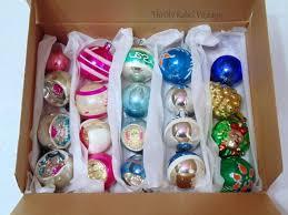 easy diy vintage glass ornament storage