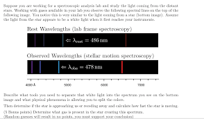 Spectral Analysis Of Light From Stars Solved Suppose You Are Working For A Spectroscopic Analys