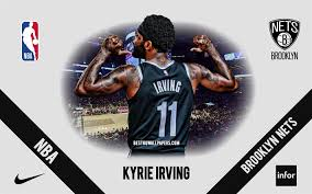 Kyrie irving is 28 years old (23/03/1992) and he is 188cm tall. Download Wallpapers Kyrie Irving Brooklyn Nets American Basketball Player Nba Portrait Usa Basketball Barclays Center Brooklyn Nets Logo For Desktop Free Pictures For Desktop Free