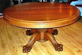 antique tiger oak round dining table designs drop leaf