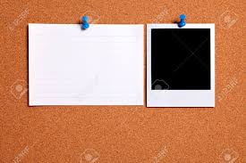 How To Print On An Index Card Blank Photo Print And Office Index Card Pinned To A Cork Notice