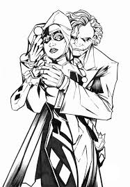 Harley Quinn Coloring Pages Comic Book Coloring Pages Adult