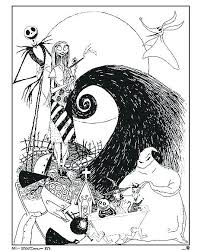The Nightmare Before Christmas Coloring Pages Print Jokingartcom