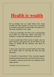 very short essay on health is wealth health is wealth paragraph long and short paragraphs