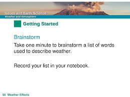 Risk Weather Brainstorm Take One Minute To Brainstorm A List