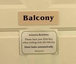 please lock door sign. Balcony Sign Please Lock Door