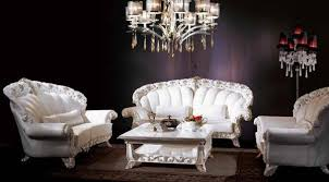 modern white living room furniture. Modern Living Room Furniture In Vintage Style, White Sofas And Coffee Table, Italian Glass Chandelier S