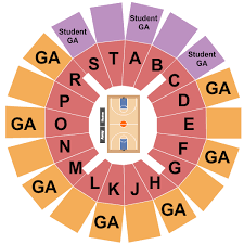 Murphy Center Seating Charts For All 2019 Events
