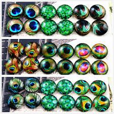 <b>12pcs</b>/<b>lot</b> (<b>One Set</b>) Three Style 12mm Feather Eyes Series ...