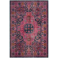 artisan blue fuchsia 8 ft x 10 ft area rug