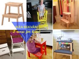 Decorative Step Stools Kitchen 5 Fun Ways To Use The Bekvam Step Stool For Kids Ikea Hackers
