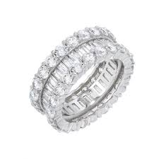 Round X Baguette Eternity Band