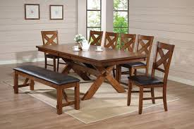 manificent design country dining table set acme 70000 8 pc apollo country kitchen style distressed walnut