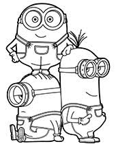 New Minions Coloring Pages Sheets To Print For Free Gru Bob Kevin