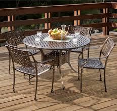 Aluminum Outdoor Dining Table Sebastian Cast Aluminum Outdoor Dining Set In Copper Patio Table