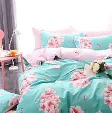 cute character bed set teen child kidtwin full queen cotton cartoon bird castle home sheridan duvet