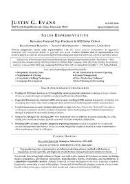 Examples Of A Sales Resume Sales Representative Free Resume Samples
