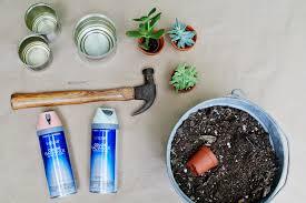 tin can planter supplies