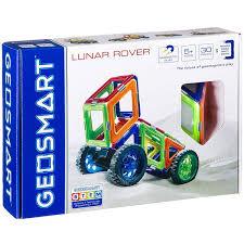 <b>Магнитный конструктор Geosmart</b> Луноход 4 колеса, 30 деталей ...