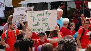 Image result for teacher protest