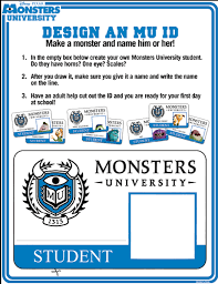 How to make your own Monsters University ID - Hispana Global