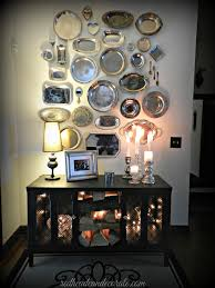 Decorating With Silver Trays Thrift Store Silver Platter Wall Silver platters Decorating and Store 13