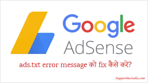 fix google adsense account me ads txt error message
